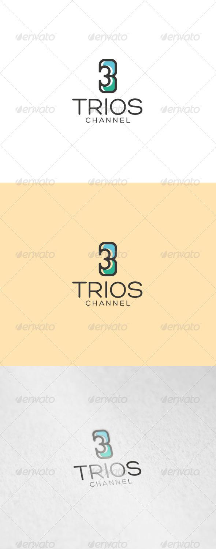 Trios Logo - Numbers Logo Templates
