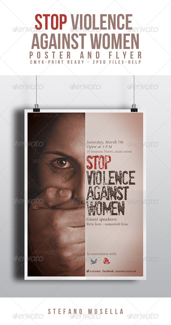Stop Violence Against Women - Flyers Print Templates