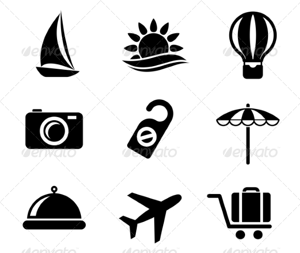 Set of Travel and Tourism Icons - Travel Conceptual
