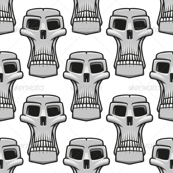 Skull Pattern - Monsters Characters