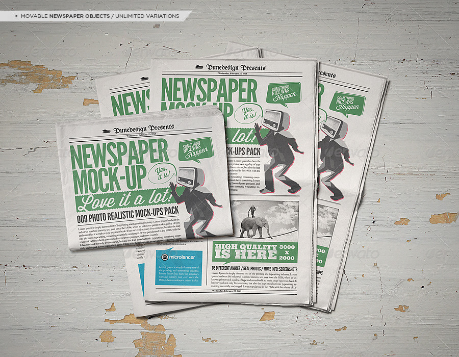 Newspaper / Newsletter Mock-Up - 2 by punedesign | GraphicRiver