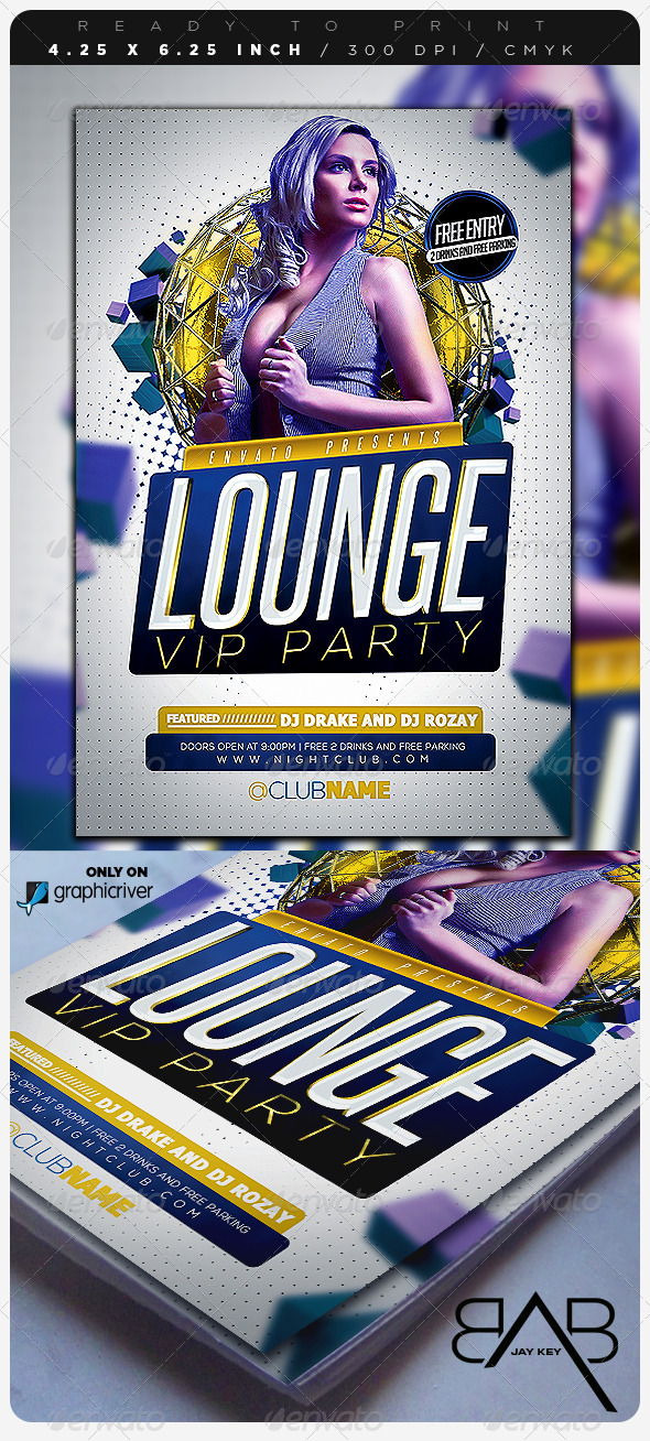 Lounge Event Party Flyer - Clubs & Parties Events