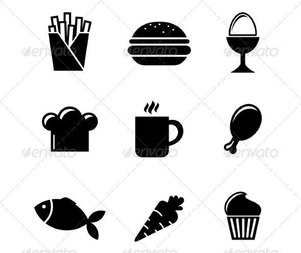 Collection of Food Icons - Food Objects
