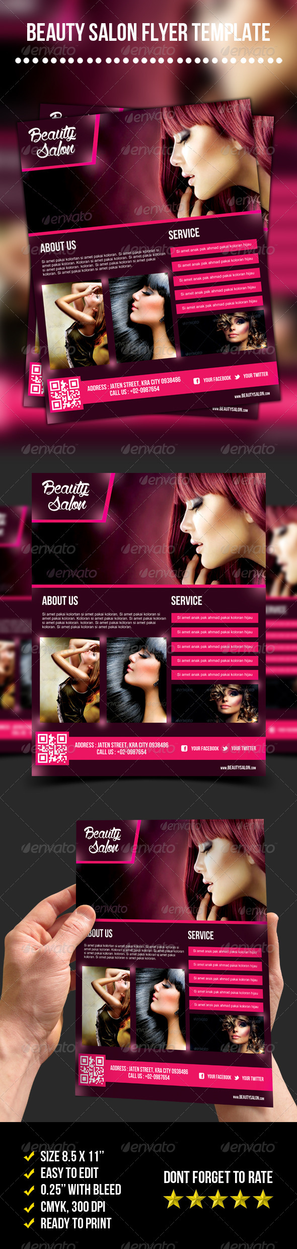 Beauty Salon Flyer By Meisuseno