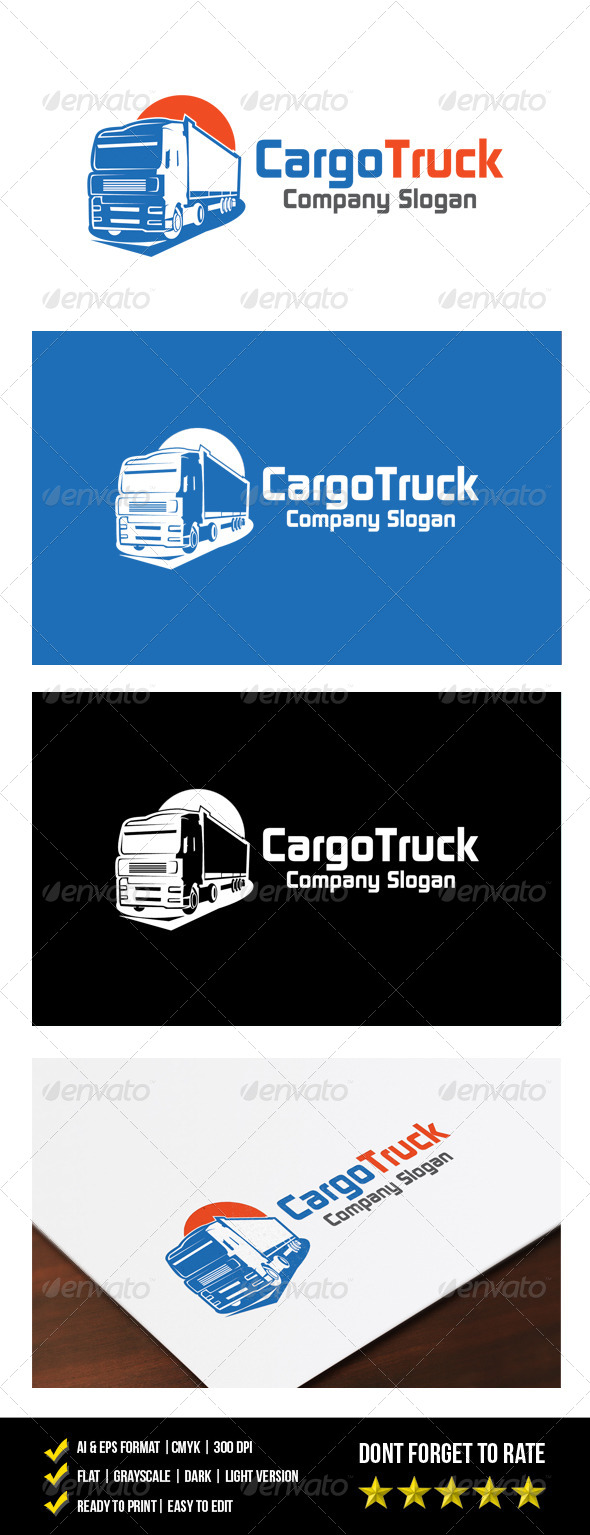 Cargo Truck Logo - Objects Logo Templates
