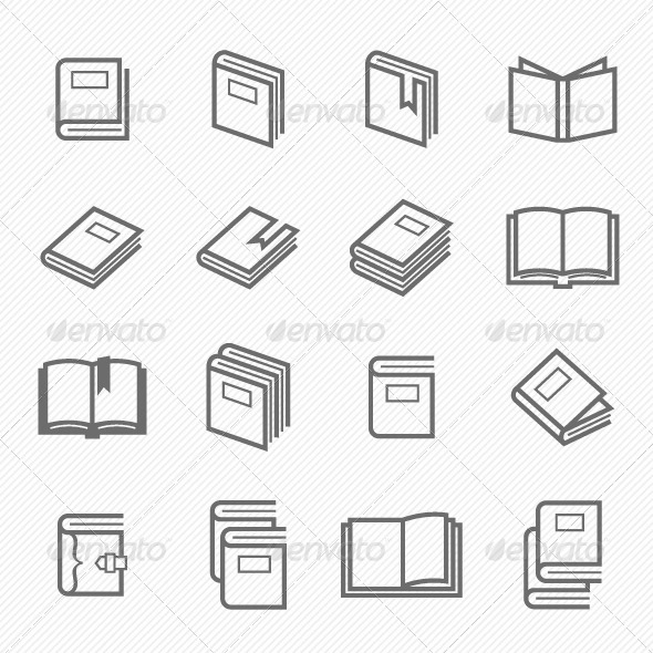 Book Icons - Objects Icons