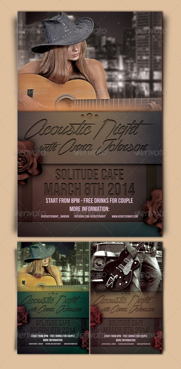Acoustic Night Flyer Template - Events Flyers