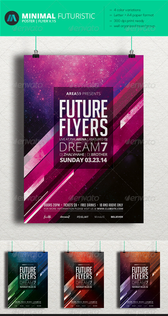 Minimal - Futuristic Poster | Flyer V.15 - Clubs & Parties Events