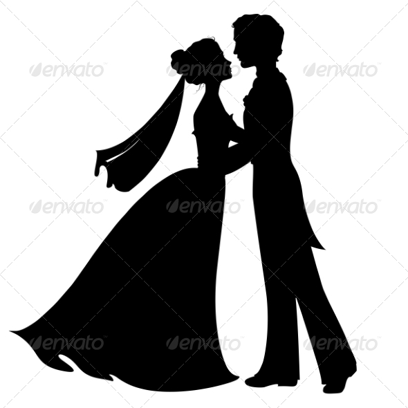 Silhouette of Bride and Groom - Weddings Seasons/Holidays