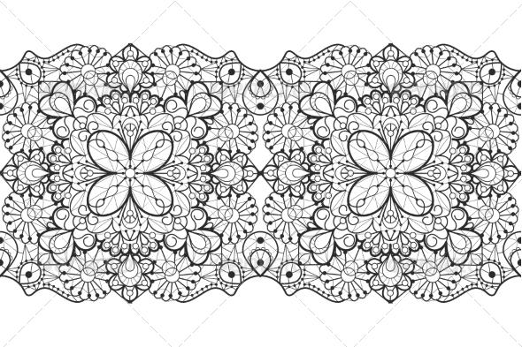 Seamless Lace Ribbon - Patterns Decorative