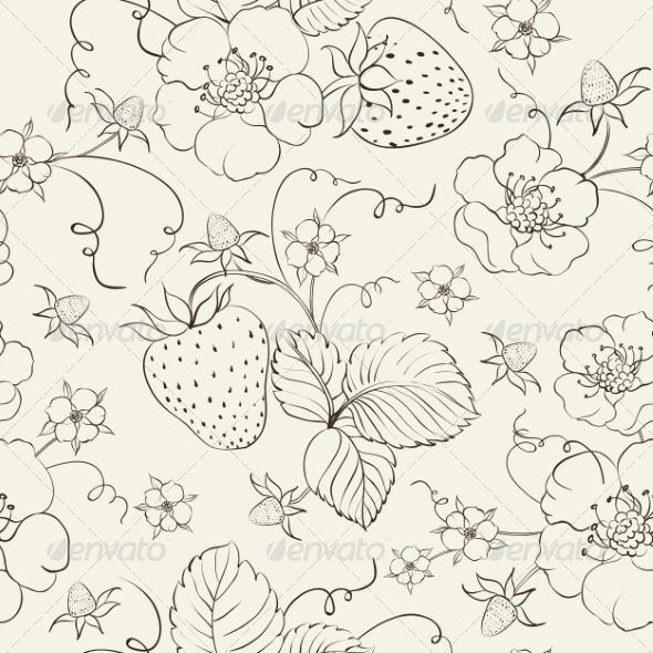 Strawberry Pattern - Flowers & Plants Nature