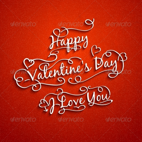 Set of Valentine's and Wedding Typography - Valentines Seasons/Holidays