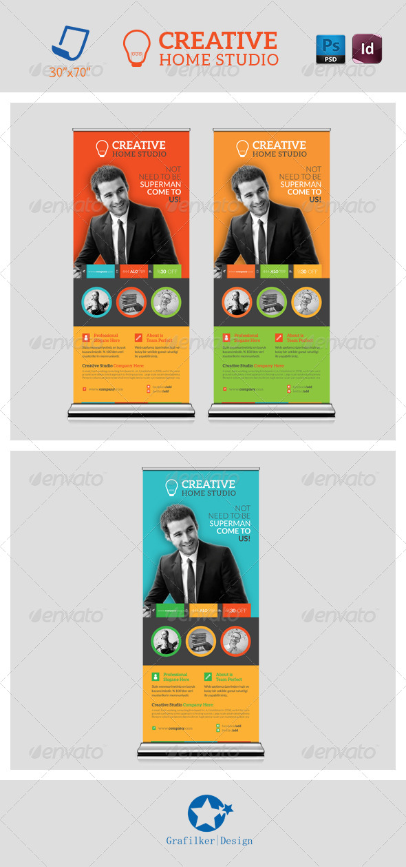 Creative Studio Roll-Up Templates - Signage Print Templates