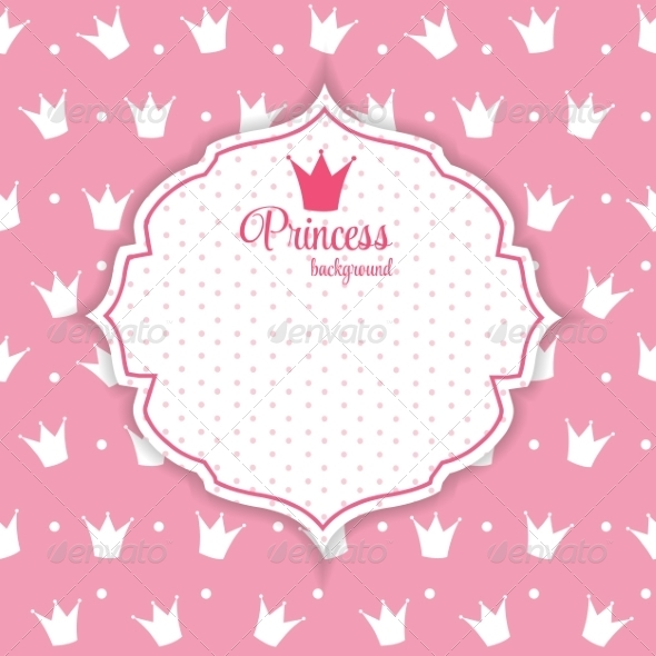 Princess Crown Background - Backgrounds Decorative