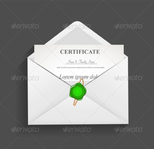 Envelope with  Stamp Vector Illustration - Backgrounds Decorative
