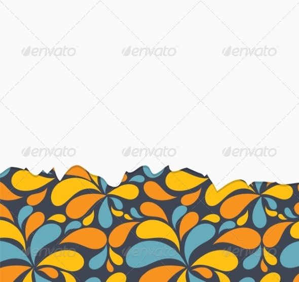 Vector Floral  Background with Flowers - Backgrounds Decorative