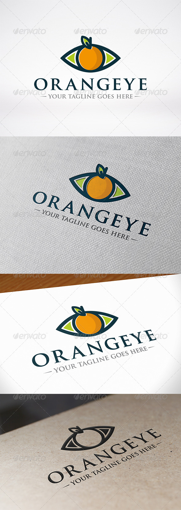 Orange Eye Logo Template - Food Logo Templates