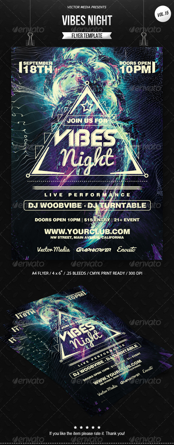 Vibes Night - Flyer [Vol.15] - Clubs & Parties Events
