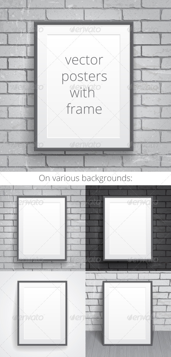 Blank Paper Posters with Frame - Backgrounds Business