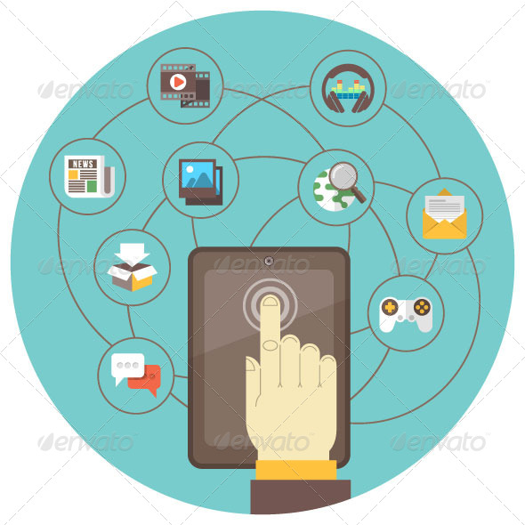 Social Networking by Tablet - Media Technology