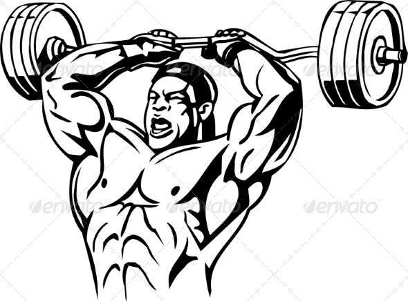 Bodybuilding and Powerlifting  - Sports/Activity Conceptual