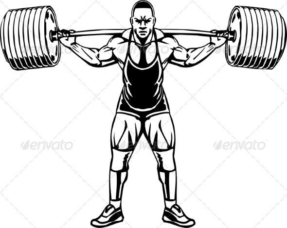 Bodybuilding and Powerlifting by Digital-Clipart ...