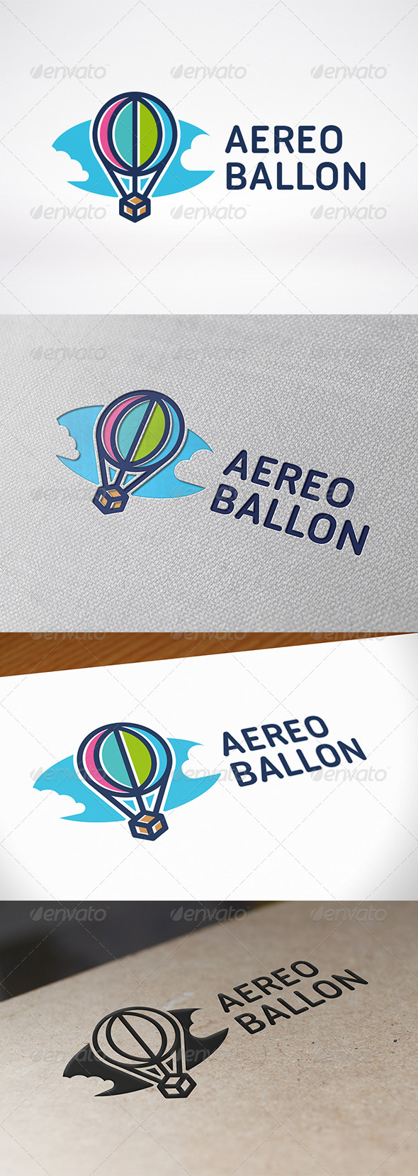 Air Balloon Logo Template - Objects Logo Templates
