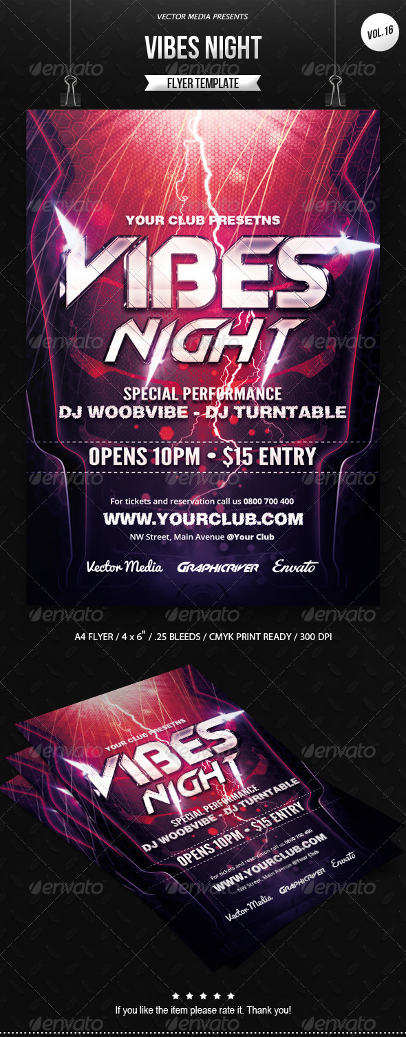 Vibes Night - Flyer [Vol.16] - Clubs & Parties Events