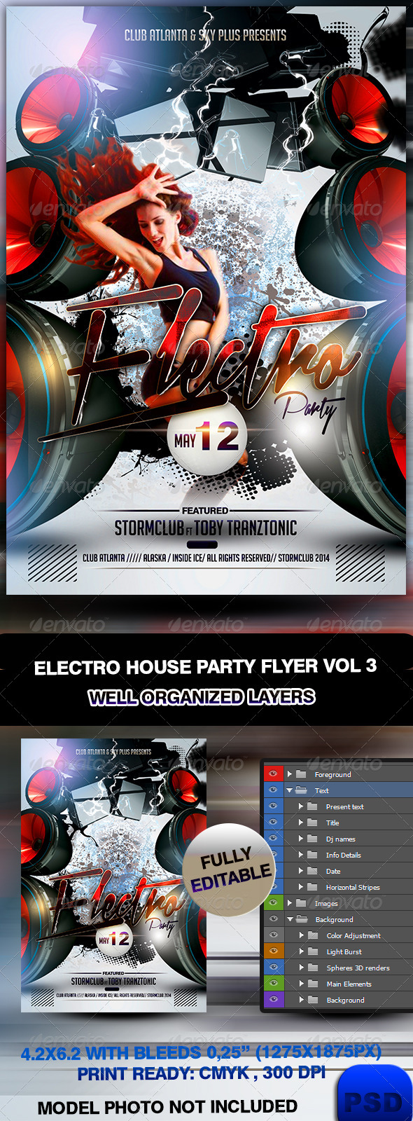 Electro House Party Flyer Vol 3 - Events Flyers
