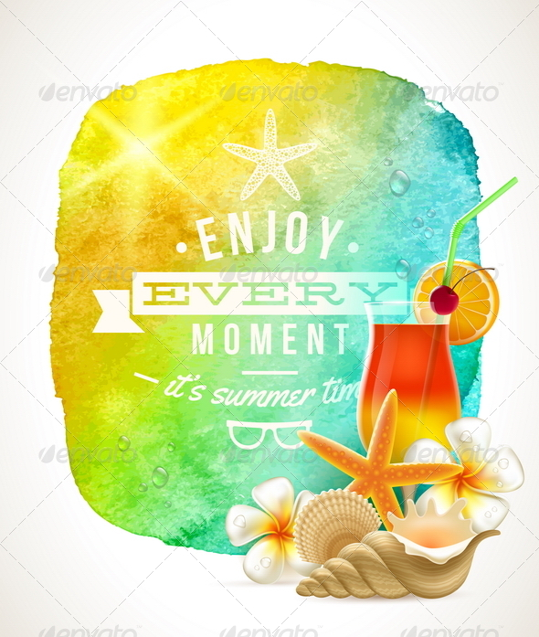Summer Time Greeting - Travel Conceptual