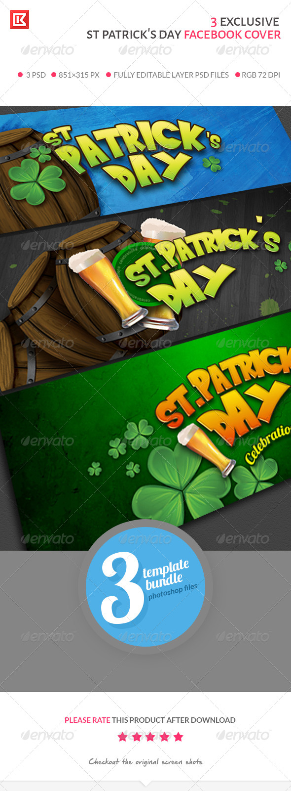 st Patrick's Day Facebook Cover Collection - Facebook Timeline Covers Social Media