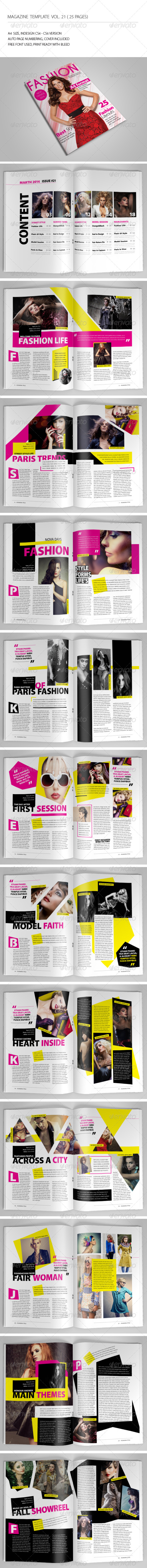 25 Pages Fashion Magazine Vol21 - Magazines Print Templates