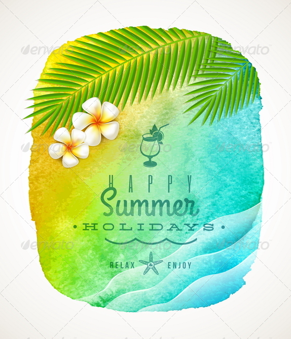 Summer Holiday Greeting - Travel Conceptual