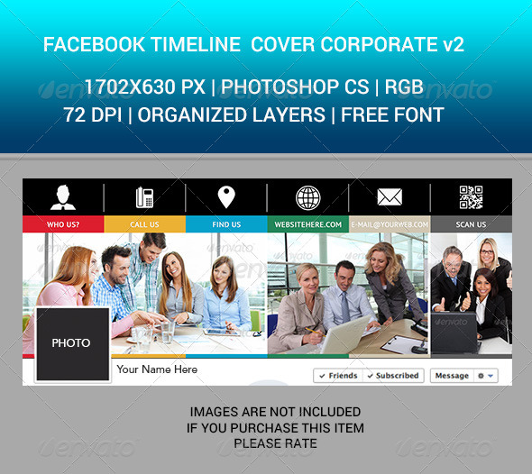 Facebook Timeline Cover Corporate v2 - Facebook Timeline Covers Social Media