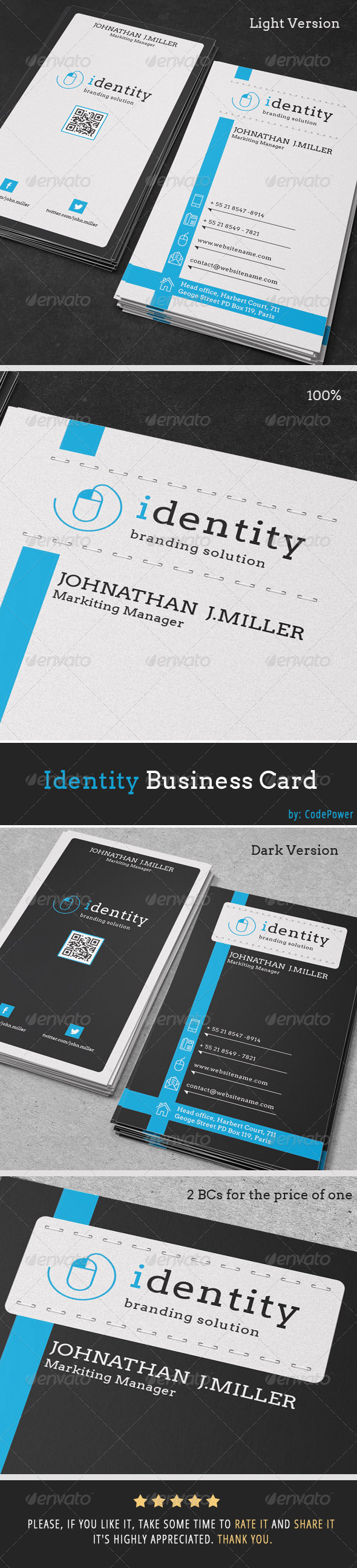 Identity Business Card - Creative Business Cards