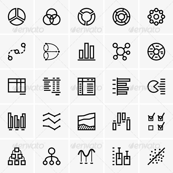 Business Graph Icons - Business Conceptual