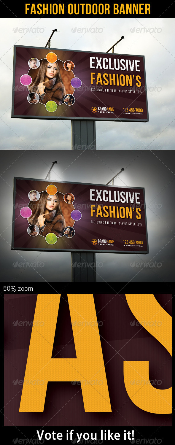 Fashion Outdoor Banner 21 - Signage Print Templates