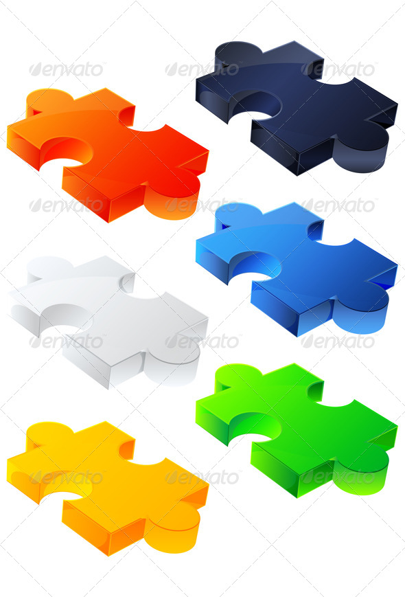 Puzzle Block - Illustration - Web Technology
