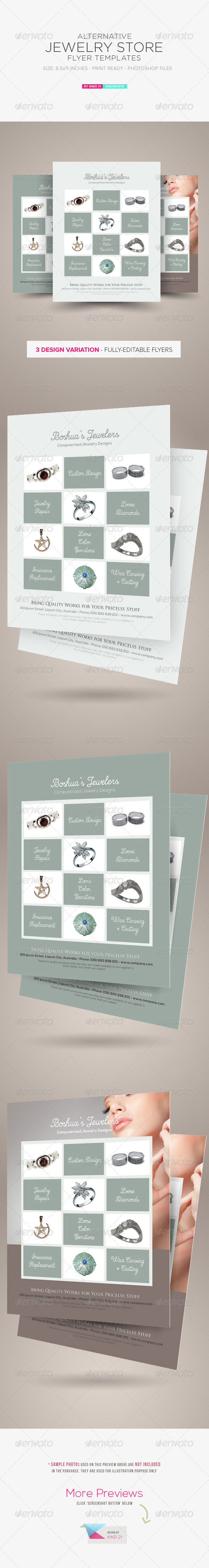 Jewelry Store Flyer Template - Corporate Flyers