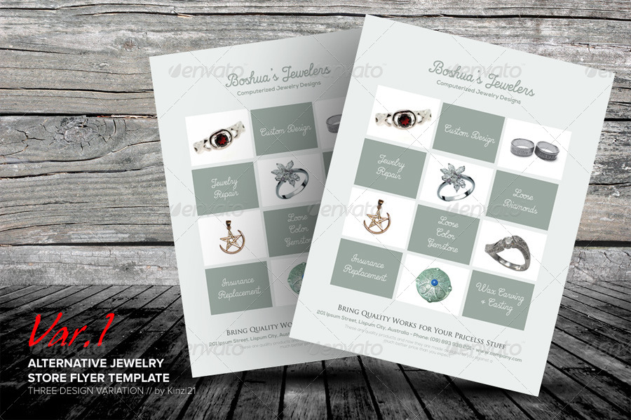 Jewelry Store Flyer Template By Kinzishots Graphicriver