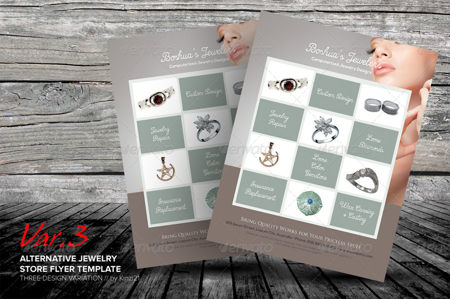 Jewelry Flyer Template Ibovnathandedecker