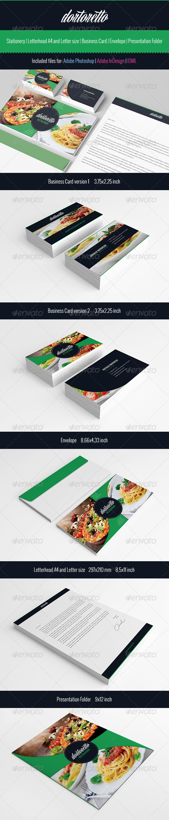 Dortoretto Stationery  - Stationery Print Templates