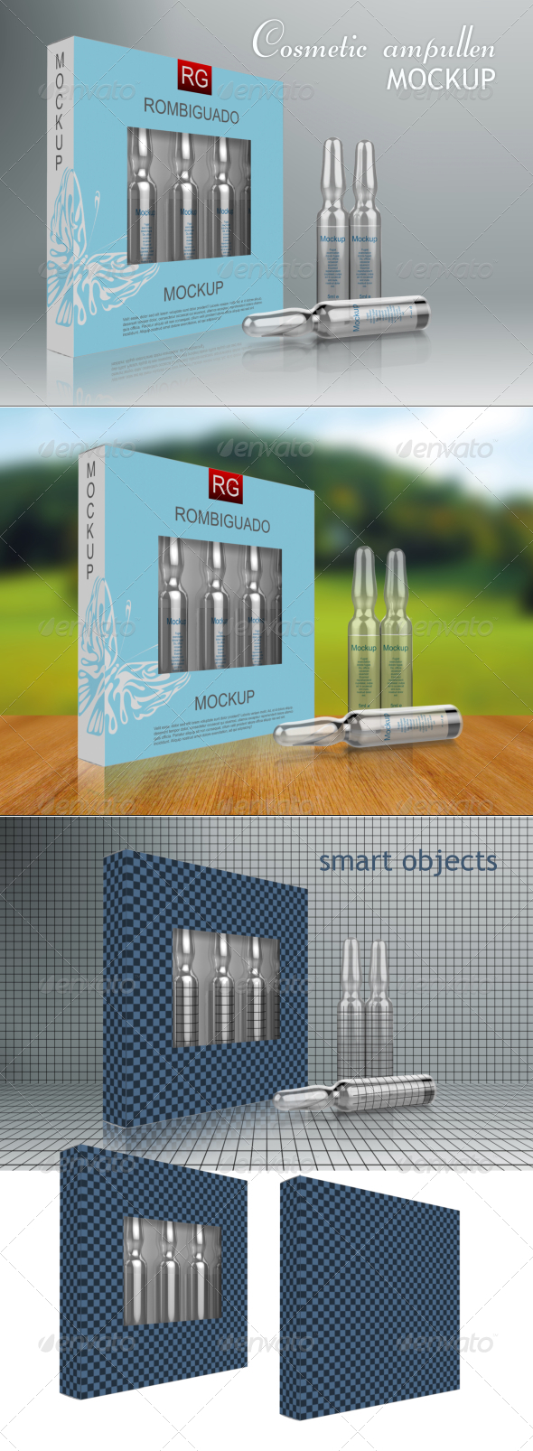Cosmetic Ampullen Mockup - Packaging Product Mock-Ups