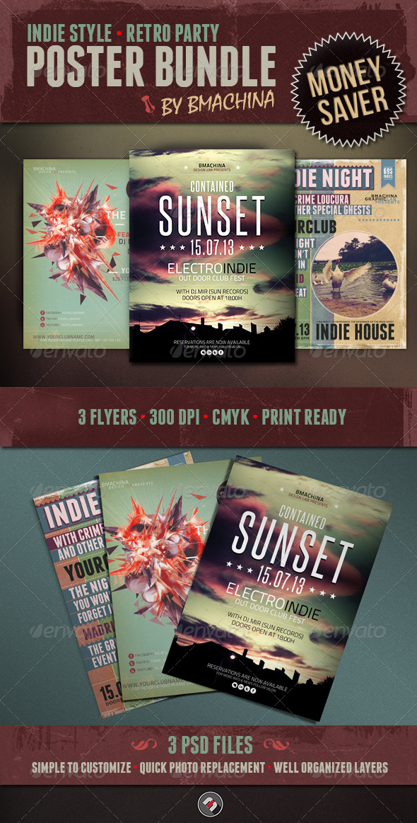 Indie Flyer Bundle - Events Flyers