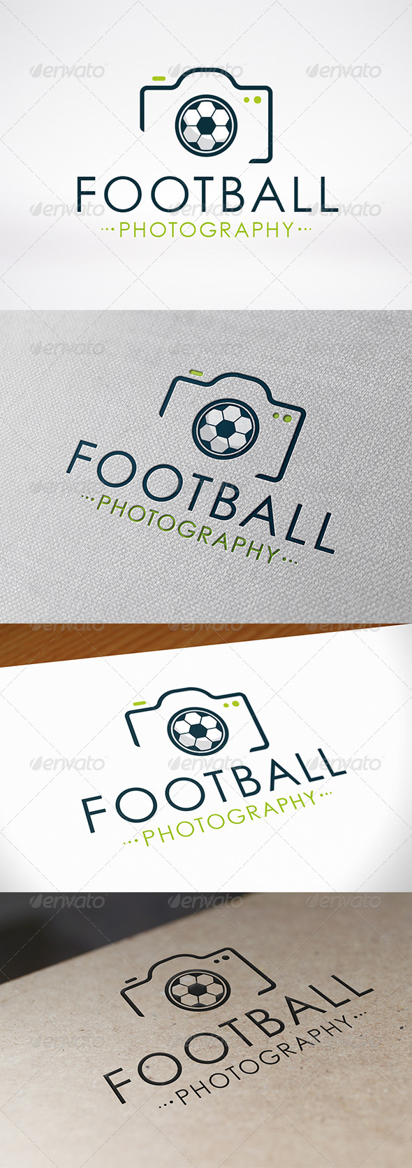 Photo Football Logo Template - Symbols Logo Templates