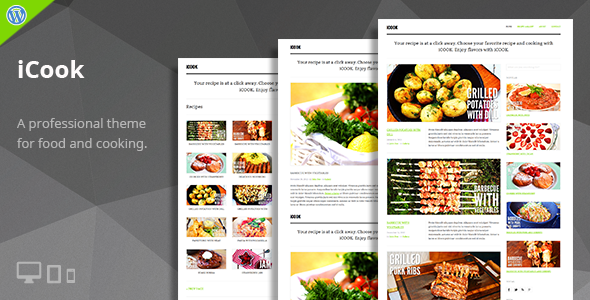 iCook – Food Blog WordPress Theme - Personal Blog / Magazine