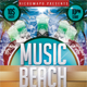 Music Beach Flyer Template - GraphicRiver Item for Sale