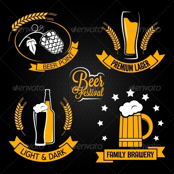 Beer Lables - Food Objects