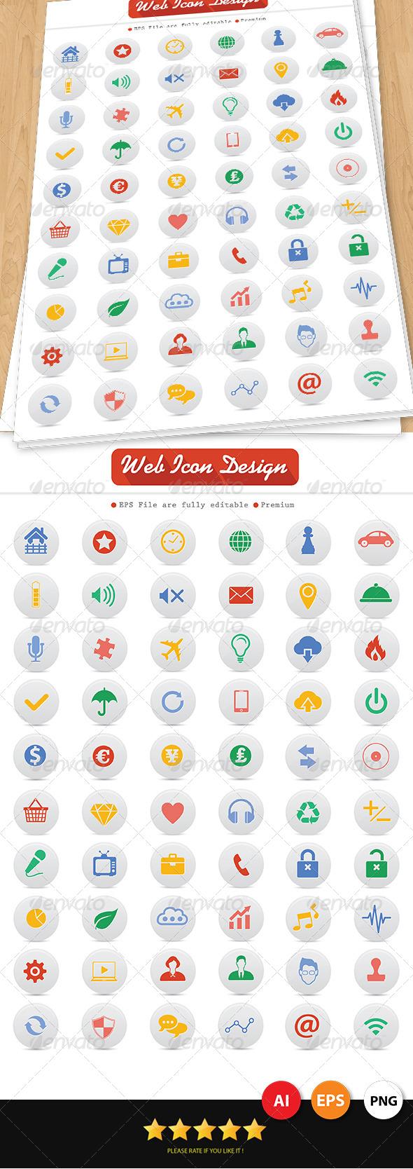 60 Web Icons Design - Web Icons