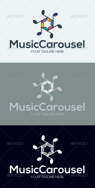 Music Carousel Logo Template - Symbols Logo Templates